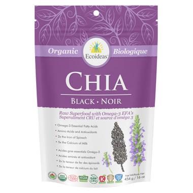 Ecoideas Organic Black Chia Seeds