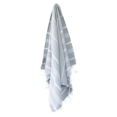 Stray & Wander Marin Turkish Hand Towel Light Grey