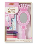 Melissa & Doug Decorate-Your-Own Wooden Crown Mirror