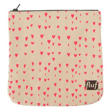 Fluf Hearts Zip Pouch