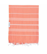 Lualoha Turkish Towel Classic Blanket Collection Coral