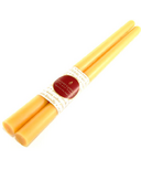 Honey Candles Pure Beeswax 12 Inch Taper Pair- Natural