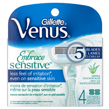 Gillette Venus Embrace Sensitive Razor Cartridge Refills