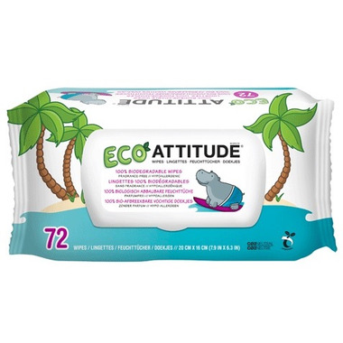 ATTITUDE Eco-Baby 100% Biodegradable Wipes