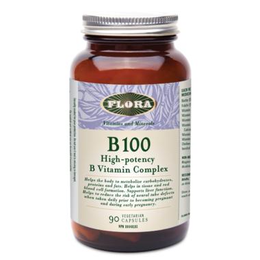 Flora B 100 High Potency B Vitamin Complex