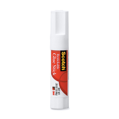 3M Scotch Clear Restickable Glue Stick