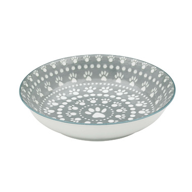 Ore Pet Speckle & Spot Shallow Bowl in Sante Fe Grey