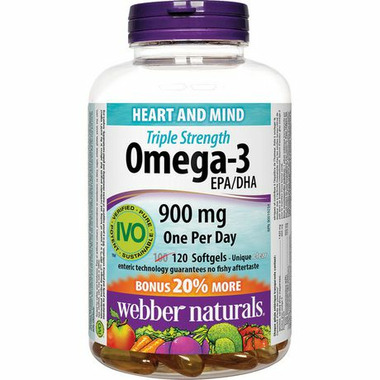Webber Naturals Triple Strength Omega-3 EPA/DHA 900mg
