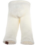 Bedford Road Off White Knitted Bunny Tail Pants