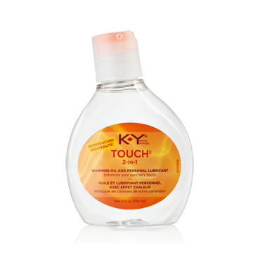 K-Y Brand Touch 2-in-1 Warming Oil & Personal Lubricant