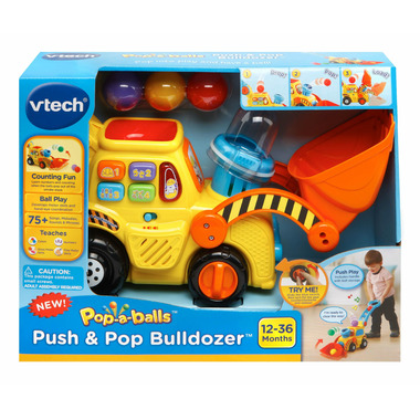 VTech Pop- A- Balls Push and Pop Bulldozer