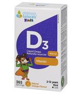 Platinum Naturals Kids Vitamin D3 Liquid Drops