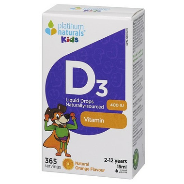 Platinum Naturals Kids Vitamin D3 Liquid Drops