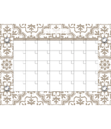 WallPops Kolkata Monthly Dry Erase Calendar Decal