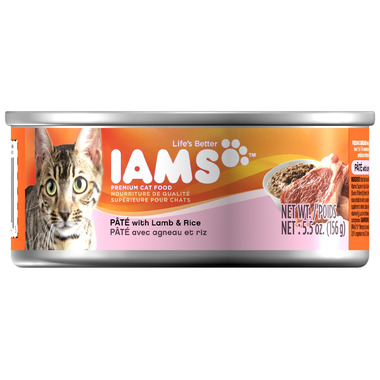Iams Cat Food Pate with Lamb & Rice