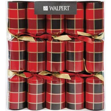 Walpert Festive Crackers in Buffalo Tartan