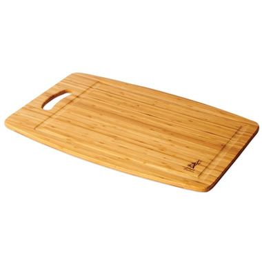 Island Bamboo CuisinAir Cutting Board with Handle and Gravy Groove