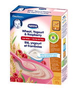 Gerber Baby Cereal - Wheat, Yogurt & Raspberry (Add Water)