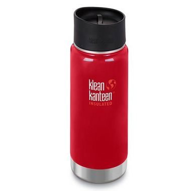 Klean Kanteen Insulated Wide Bottle with Cafe Cap 2.0 Mineral Red