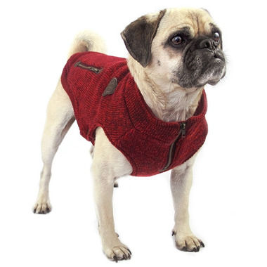 Canada Pooch Northern Knit Sweater in Salt & Pepper Size 18