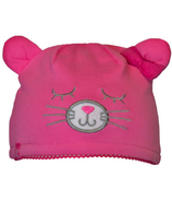Calikids Cat Ear Hat Carmine Rose