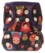 Bummis All-in-One Cloth Diaper Snap Russian Dolls