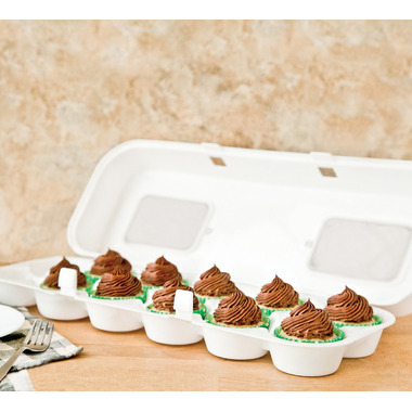 Bakelicious White Cupcake Carton
