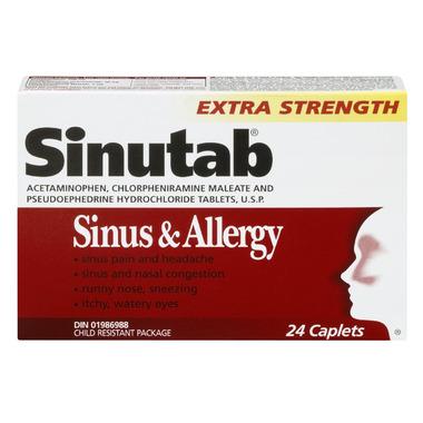Sinutab Sinus & Allergy Extra Strength