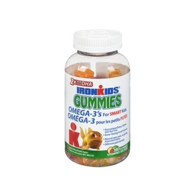 Ironkids Gummies with Omega 3\'s for Smart Kids