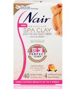 Nair Brazilian Spa Clay Perfect Temp Easy to Use Wax Strips