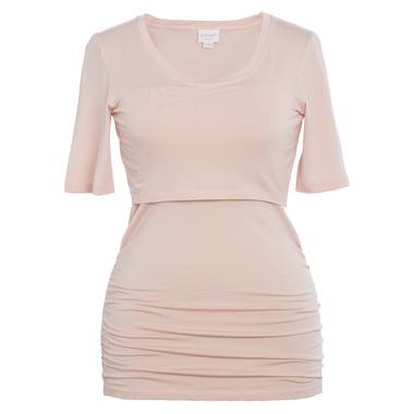 Boob Flatter Me Short Sleeve Top Pink Pearl
