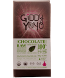 Giddy Yoyo Raw Organic Chocolate Bar Mint Hundo