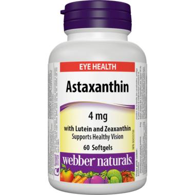 Webber Naturals Astaxanthin 4 mg with Lutein and Zeaxanthin