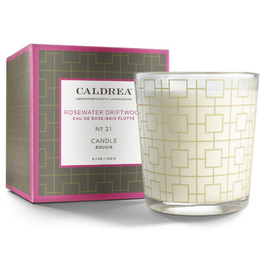 Caldrea Candle Rosewater Driftwood