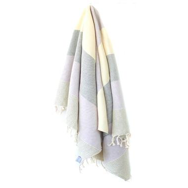 Stray & Wander Rio Turkish Towel Lilac & Beige