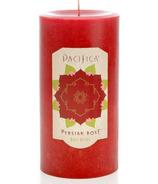 Pacifica Pillar Candle Persian Rose