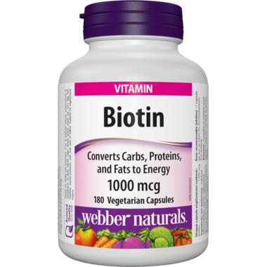 Webber Naturals Biotin 1000 mcg