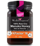 Wedderspoon Organic 100% Raw Premium Manuka Honey KFactor 16
