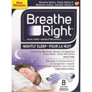 Breathe Right Nasal Strips Nightly Sleep