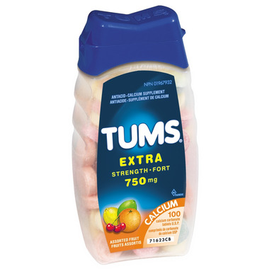 Tums Extra Strength Antacid Calcium Tablets