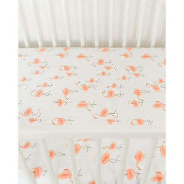 Little Unicorn Cotton Muslin Crib Sheet Pink Ladies