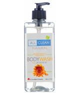 All Clean Natural Orange Vanilla Body Wash