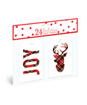 Graphique de France Plaid Joy Reindeer Gift Tags
