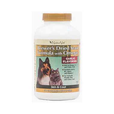 Naturvet Brewer\'s Dried Yeast Formula with Omegas Tablets