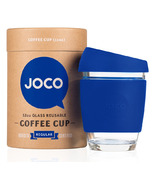 JOCO Glass Reusable Coffee Cup in Cobalt Blue