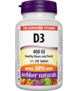 Webber Naturals Vitamin D3, 400 IU