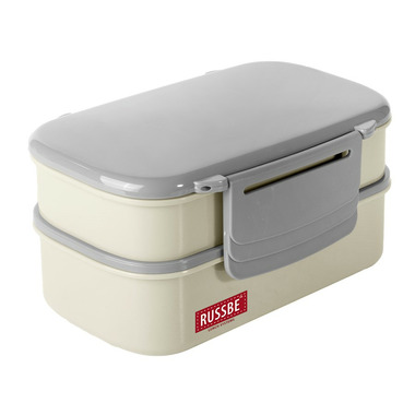 Russbe Double Stack + Chill Bento with Ice Pack Bone White
