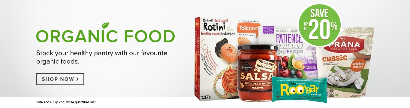 Save up to 20% off Organic Food