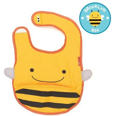 Skip Hop Zoo Bibs Tuck-Away Bib Bee Design
