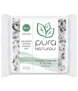 Pura Naturals Face Soap-Infused Sponge Activated Charcoal & Tea Tree